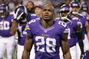 Peterson officially signed the saints